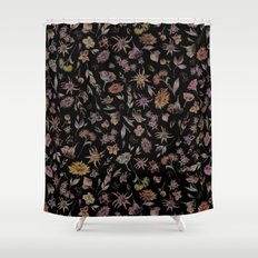 Botanical Study- Dark Colorway Shower Curtain