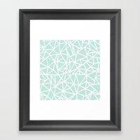 Ab Outline Thick Mint Framed Art Print