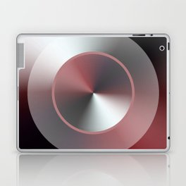 Serene Simple Hub Cap in Red Laptop & iPad Skin
