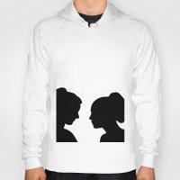 glee Hoodies featuring Brittana - Glee - Silhouette Minimalist design by Hrern1313