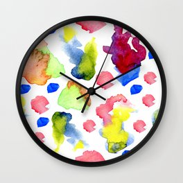 Happy little accidents Wall Clock