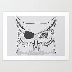 Owl Pirate Art Print