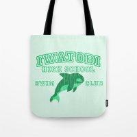 iwatobi Tote Bags featuring Iwatobi - Orca by drawn4fans