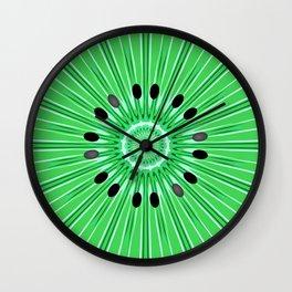 Digital art kiwi Wall Clock