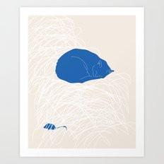 Blue Cat poster Art Print