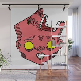 two faced morphed head Wall Mural