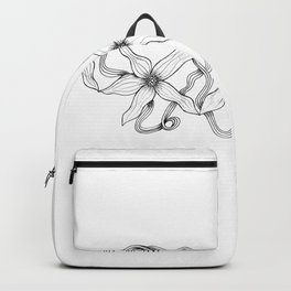 Huia Art Clematis Ribbon Backpack