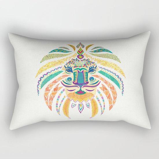 Whimsical Tribal Lion Rectangular Pillow