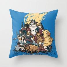 FF7 - FULL FAT 7 Throw Pillow