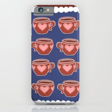 Coffee Love Navy & Brown Pattern Slim Case iPhone 6s