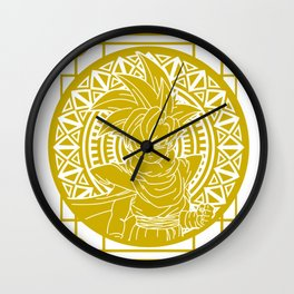 Stained Glass - Dragonball - Young Gohan Wall Clock
