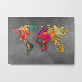 Map of the world 2027 Metal Print
