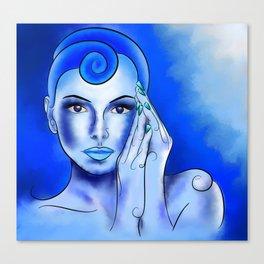 Jewellisina V1 - blue treasure Canvas Print