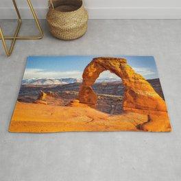 Delicate Arch Sunset Arches National Park Moab Utah Landscape Rug