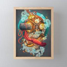 Deep Sea Diver Framed Mini Art Print