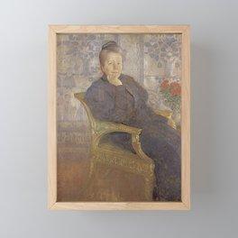 Carl Larsson - Selma Lagerlöf Framed Mini Art Print