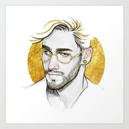 Golden Glasses Art Print