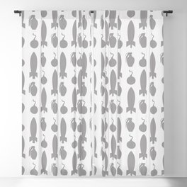 Boom! Bombs Away (Patterns Please) Blackout Curtain