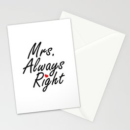 Mrs Always Right Stationery Cards