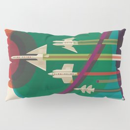 Space Ships Pop Art Vintage Pillow Sham