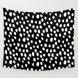 Handdrawn drops and dots on black - Mix & Match with Simplicty of life Wall Tapestry