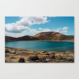 Lake on the mountain Canvas Print