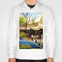 cafe Hoodies featuring Sidewalk Cafe by Helen Syron