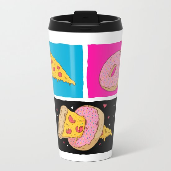 Pizza & Donut Metal Travel Mug