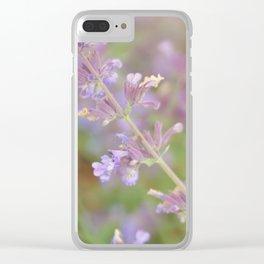 lavender violet Clear iPhone Case