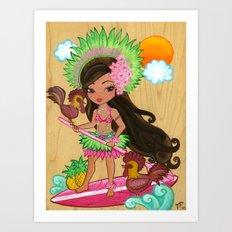 Lanakai Kauai Art Print