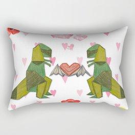 T-Rex Luvs Takes Flight Rectangular Pillow