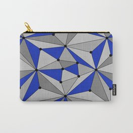 Abstract geometric pattern - blue and gray. Carry-All Pouch
