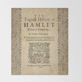 Shakespeare, Hamlet 1603 Throw Blanket