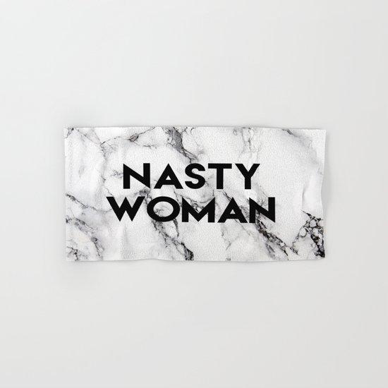 Nasty Woman (marble) Hand & Bath Towel