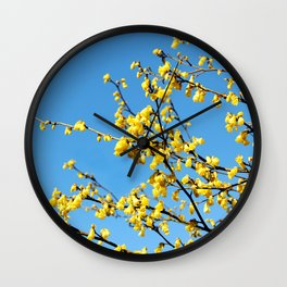 boom boom bloom Wall Clock