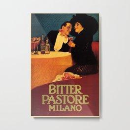 Vintage poster - Bitter Pastore Milano Metal Print