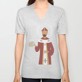 St. Arnold of Brewers Unisex V-Neck