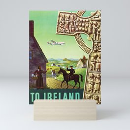 Ireland - Vintage Airline Travel Poster Mini Art Print
