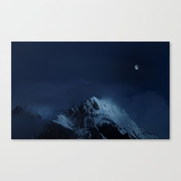 Moonlight on Aoraki / Mount Cook. Canvas Print