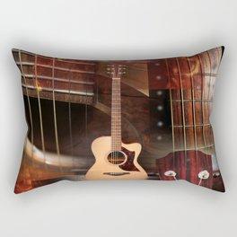 The acoustic guitar Rectangular Pillow