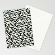 brocade indigo ivory Stationery Cards