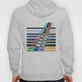 Colorful oblique lines . Abstract pattern 2 . Hoody