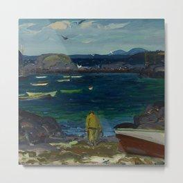"George Wesley Bellows ""The Harbor, Monhegan Coast, Maine"" Metal Print"