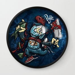You Are What You Eat Royal Stain Wall Clock