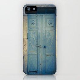 Blue Door II iPhone Case