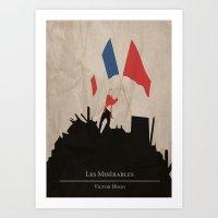 les mis Art Prints featuring Les Misérables by Abbie Imagine