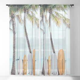 Choose Your Surfboard Sheer Curtain