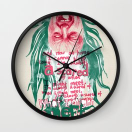 "Screaming Lord Sutch ""I'm Always A-scared of what I might Meet"" - The Punk Loons. Wall Clock"