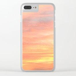Orange Sky Clear iPhone Case