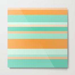 Summer Stripes II Metal Print